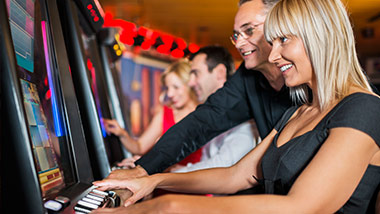 Couple at Slot Machine
