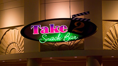 Take 2 Snack Bar Sign